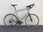 Seven custom titanium disc road bike
