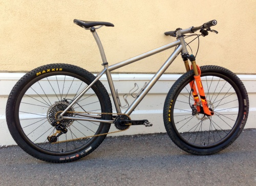 Bingham Built Custom Titanium Hardtail Mountain Bike