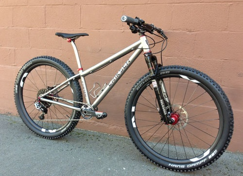 eriksen 650b titanium mountain bike