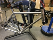 Eriksen Gravel frame, flat mount disc brake