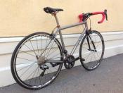 Eriksen titanium Di2 whole athlete custom bike